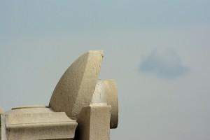 Observation aérienne de la Basilique de Fourvière : détail architecural