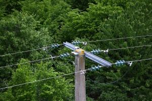 photo aérienne par drone, ligne électrique