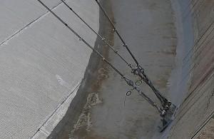 photo aérienne par drone du toit d'un château d'eau (Eure, Normandie)