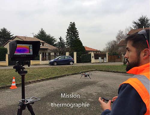 Mission thermographie par drone pour Technivue